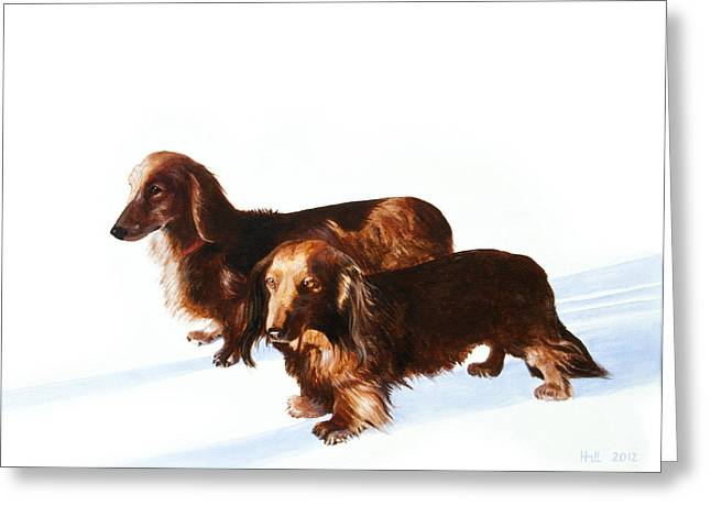 Kevin Hill Greeting Cards - Doc and Chili Greeting Card by Kevin Hill