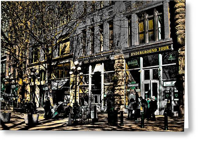 Doc Maynards And The Underground Tour - Seattle Washington Greeting Card by David Patterson