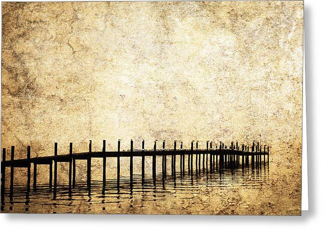 Evening Wear Photographs Greeting Cards - Dock 2 Greeting Card by Skip Nall