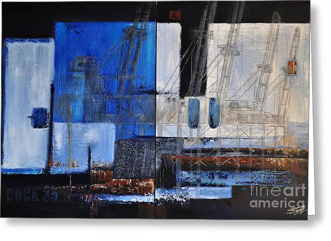 Dock 35 Greeting Card by Sallie-Anne Swift