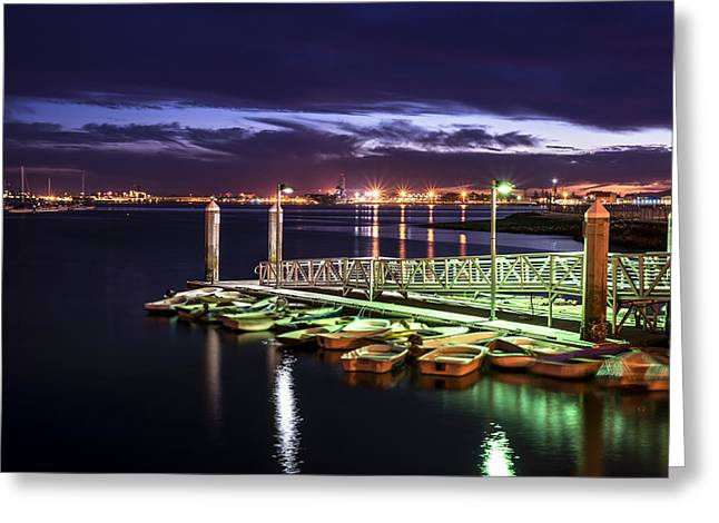 San Diego Harbor Greeting Cards - Dock and Dinghies Greeting Card by Joseph S Giacalone