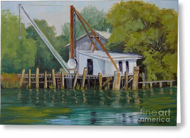 Stockton Paintings Greeting Cards - Dock and Load Greeting Card by Cheryl Bloomfield