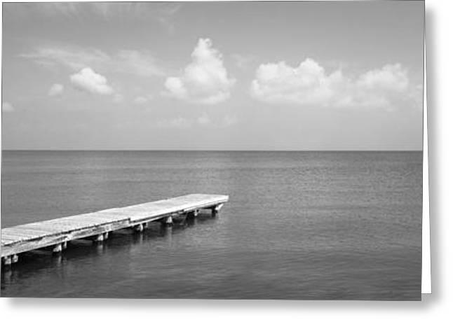 Alabama Greeting Cards - Dock, Mobile Bay Alabama, Usa Greeting Card by Panoramic Images