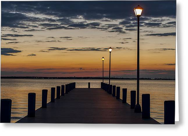 Bathroom Prints Greeting Cards - Dock of the Bay Seaside New Jersey Greeting Card by Terry DeLuco