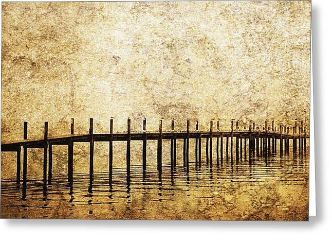 Pier Prints Greeting Cards - Dock Greeting Card by Skip Nall