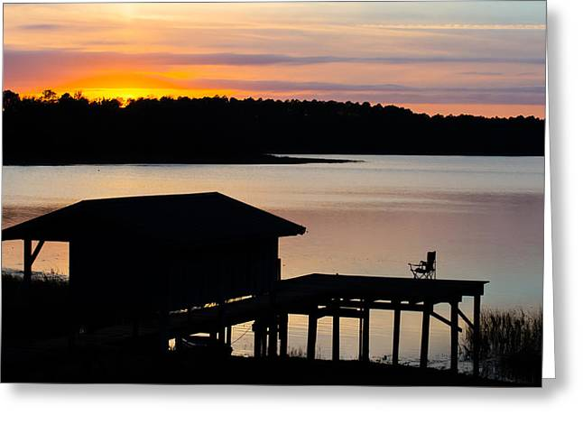 Rare Sunset Greeting Cards - Dock Sunset Greeting Card by Parker Cunningham