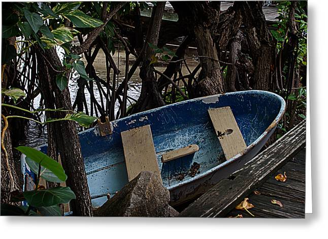 Row Boat Greeting Cards - Docked Greeting Card by Camille Lopez