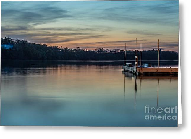 Lewiston Greeting Cards - Docking Greeting Card by Chuck Alaimo