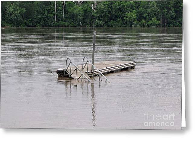 River Flooding Greeting Cards - Docking Greeting Card by Jamie  Smith