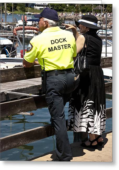 Stoney Creek Greeting Cards - Dockmaster Stoney Creek Harbour Greeting Card by Robert Ford