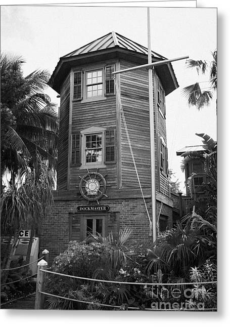 Wooden Building Greeting Cards - Dockmasters Office In Historic Seaport Key West Florida Usa Greeting Card by Joe Fox