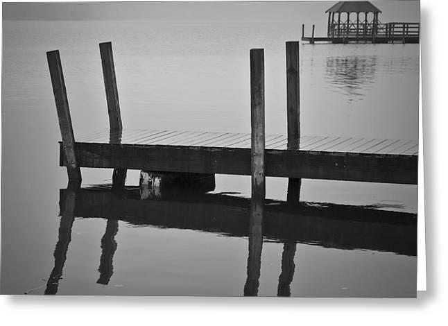 Docks And Gazebo Greeting Card by David Gordon