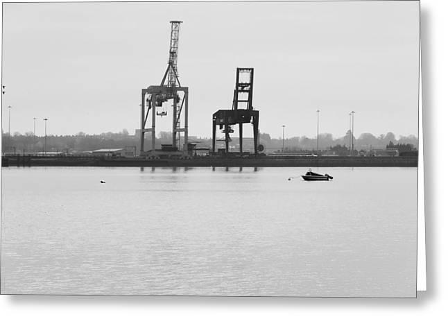 Docks Greeting Card by Svetlana Sewell