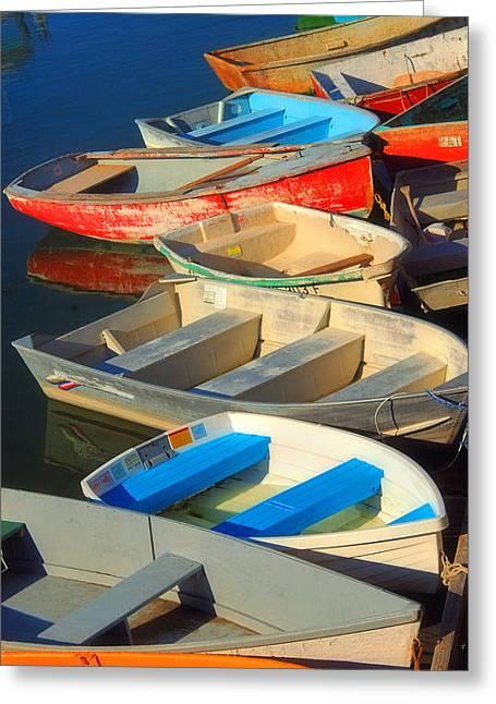 Dockside Parking Greeting Card by Joann Vitali