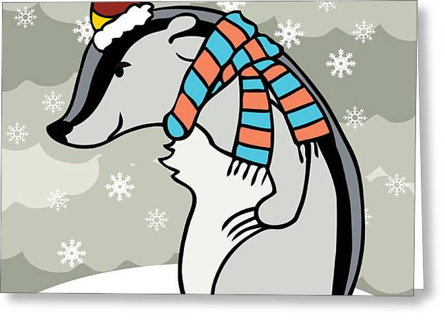 Doctor Derby Winter Greeting Card by Christy Beckwith