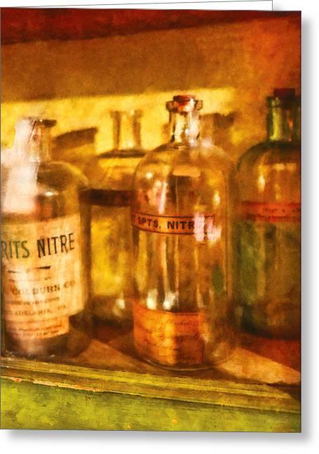 Pharmacist Digital Greeting Cards - Doctor - I see spirits Greeting Card by Mike Savad