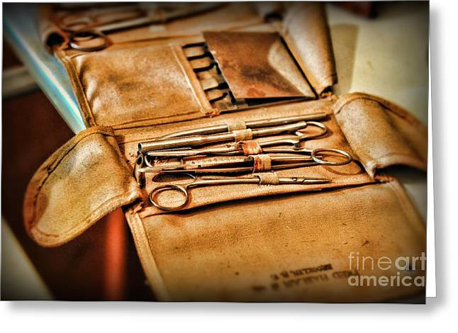 Doctor -  Medical Field Kit Greeting Card by Paul Ward