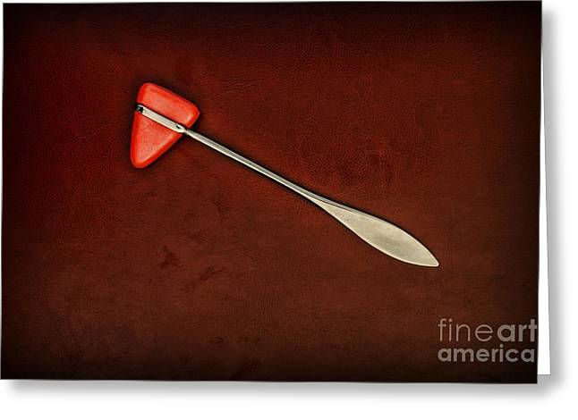 Reflex Greeting Cards - Doctor - Orthopedic Tool - Reflex Hammer Greeting Card by Paul Ward