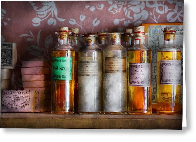 Suburbanscenes Greeting Cards - Doctor - Perfume - Soap and Cologne Greeting Card by Mike Savad