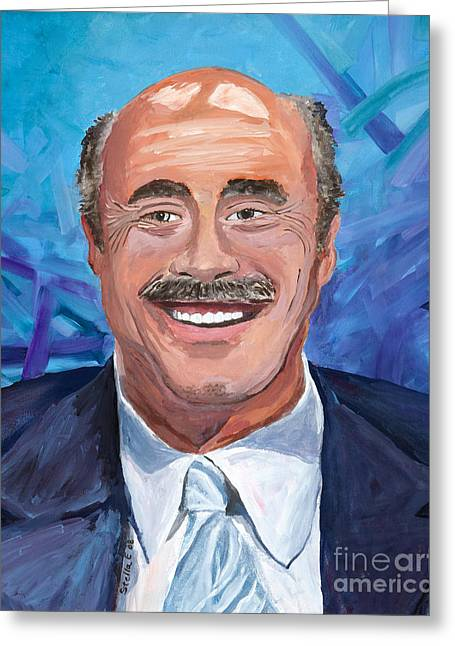 Doctors Suites Greeting Cards - Doctor Phil Show Portrait Greeting Card by Stella Sherman