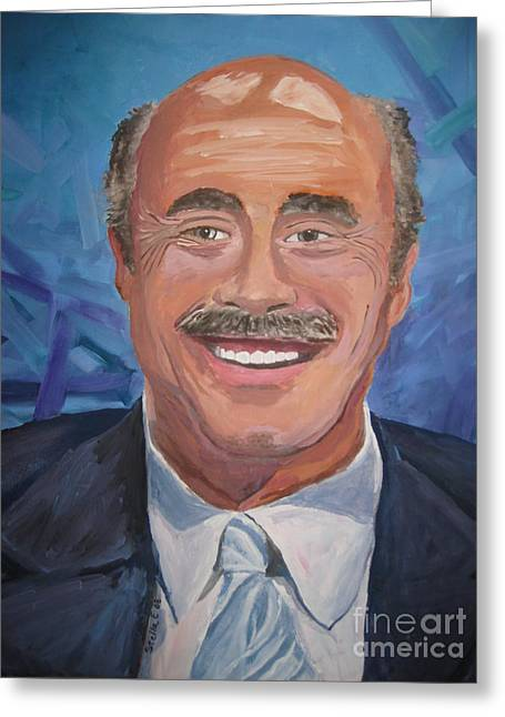 Stella Sherman Greeting Cards - Doctor Phil Greeting Card by Stella Sherman