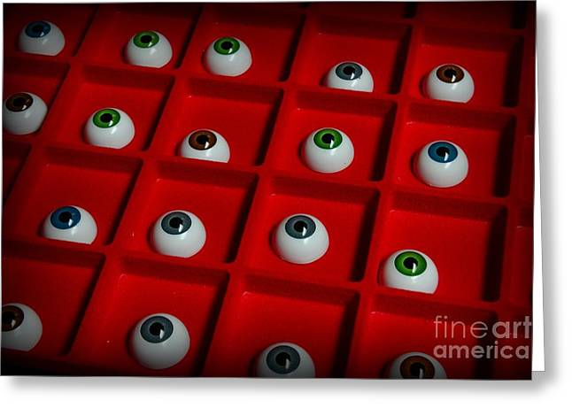Prosthetic Greeting Cards - Doctor - The Eyes Have It Greeting Card by Paul Ward