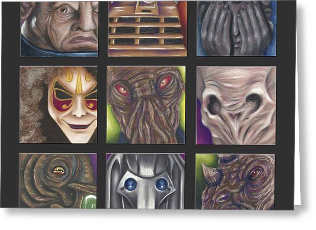 Science Pastels Greeting Cards - Doctor Who - Losers Greeting Card by Connie Mobley Johns
