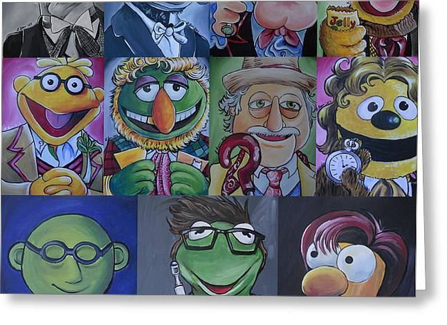 Doctor Who Muppet Mash-up Greeting Card by Lisa Leeman
