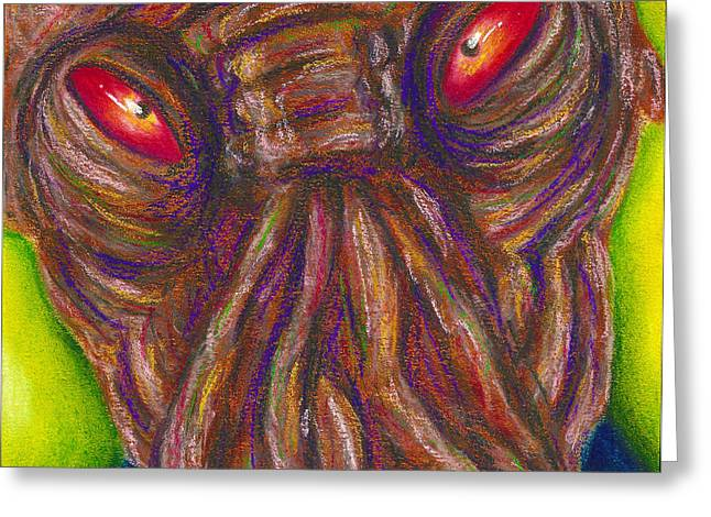 Science Pastels Greeting Cards - Ood Greeting Card by Connie Mobley Johns