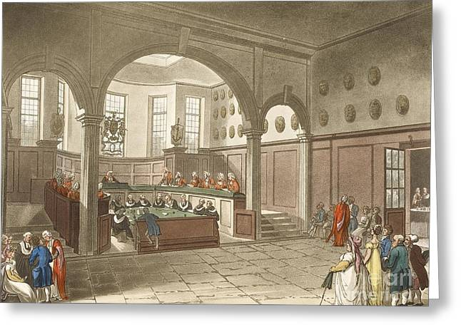 Rowlandson Greeting Cards - Doctors Commons, 1808 Greeting Card by British Library