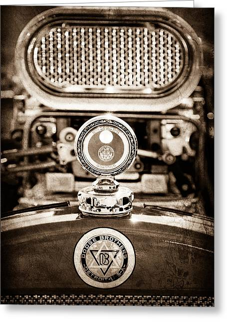 Meter Greeting Cards - Dodge Brothers Moto Meter - Emblem Greeting Card by Jill Reger