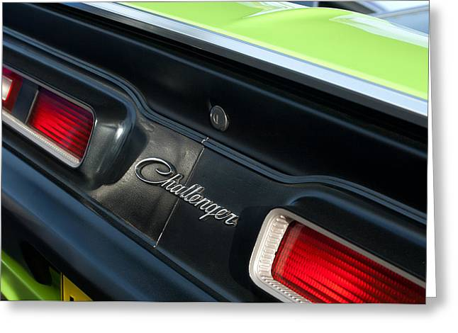 Dodge Challenger 440 Magnum RT Taillight Emblem Greeting Card by Jill Reger