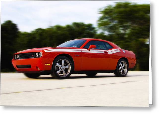 Dodge Challenger Greeting Card by Bill Cannon