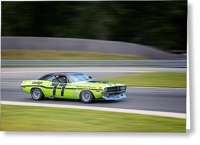 Mopar Photographs Greeting Cards - Dodge Challenger Greeting Card by Bill  Wakeley