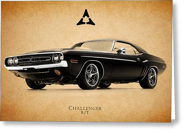Challenger Greeting Cards - Dodge Challenger Greeting Card by Mark Rogan