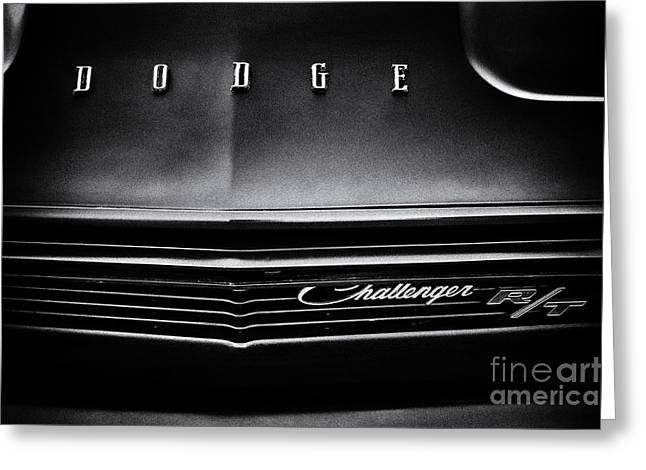 Front End Greeting Cards - Dodge Challenger R/T Greeting Card by Tim Gainey