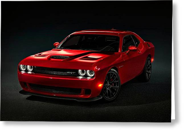 Movie Poster Prints Greeting Cards - Dodge Challenger S R T Hellcat Greeting Card by Movie Poster Prints