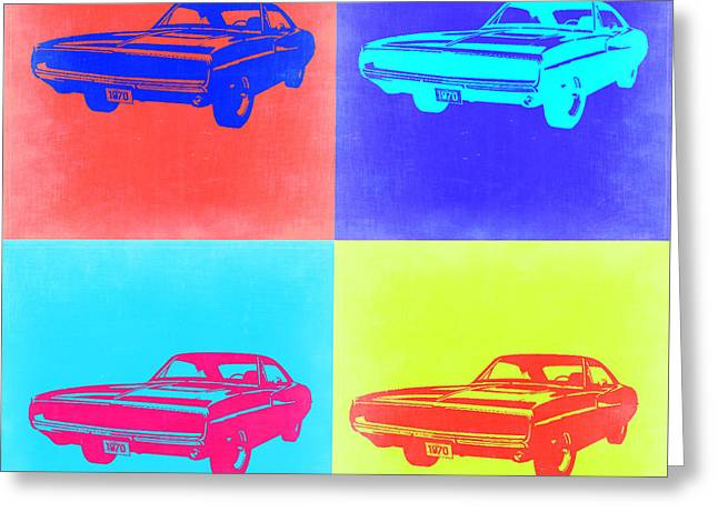 Dodge Digital Art Greeting Cards - Dodge Charger Pop Art 1 Greeting Card by Naxart Studio