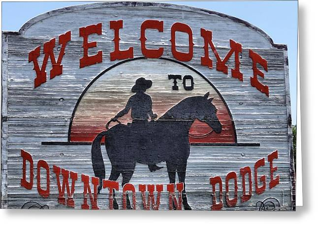 Gunman Greeting Cards - Dodge City Greeting Card by Dan Sproul