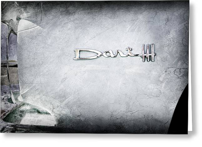 440 Greeting Cards - Dodge Dart 440 Emblem Greeting Card by Jill Reger