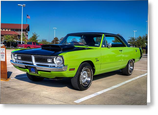 Car Photography Greeting Cards - Dodge Dart Swinger Greeting Card by Tim Stanley
