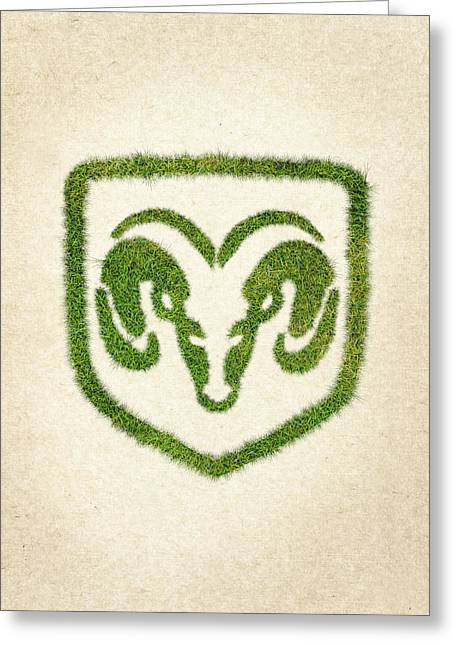 Fanatic Greeting Cards - Dodge Grass Logo Greeting Card by Aged Pixel