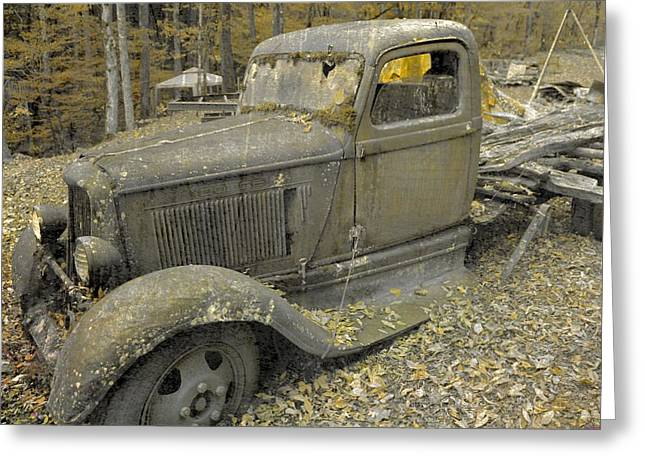 Autumn In The Country Greeting Cards - Dodge In Autumn Greeting Card by Dan Sproul