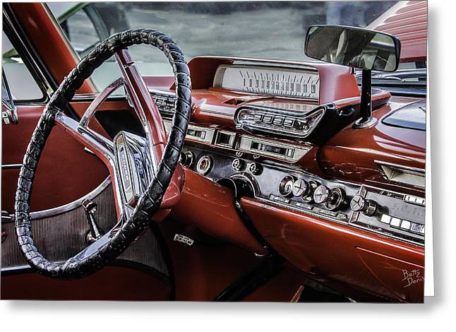 Steering Greeting Cards - Dodge Phoenix Dashboard Greeting Card by Betty Denise