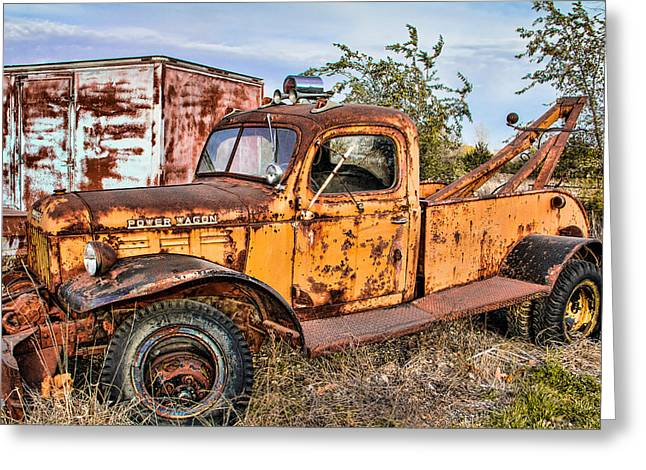 Pickup Greeting Cards - Dodge Power Wagon Wrecker Greeting Card by Steven Bateson