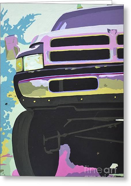 Headlight Paintings Greeting Cards - Dodge Ram #3 Greeting Card by Paul Kuras