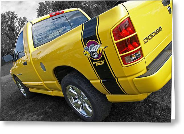 Rumble Greeting Cards - Dodge Ram Rumble Bee Greeting Card by Gill Billington