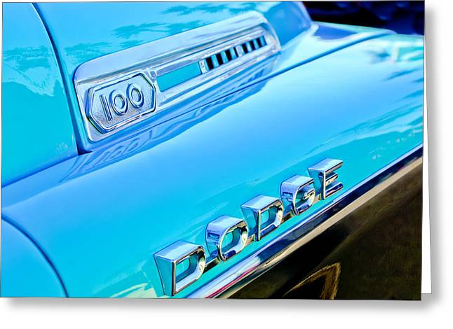Classic Pickup Greeting Cards - Dodge Sweptside 100 Pickup Truck Greeting Card by Jill Reger