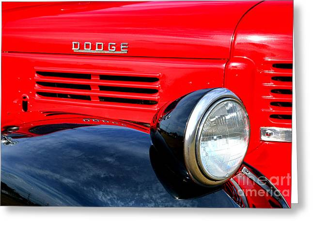 Headlight Greeting Cards - Dodge Truck Greeting Card by Olivier Le Queinec