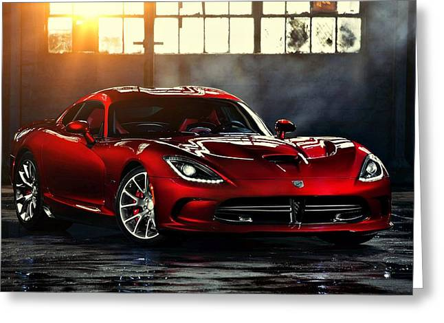 Dodge Viper Greeting Card by Movie Poster Prints